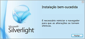 Silverlight Instalação Bem-Sucedida