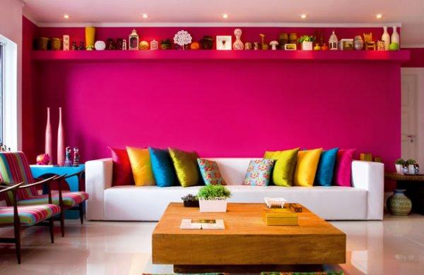 Deixe a sua casa alegre com cores vibrantes