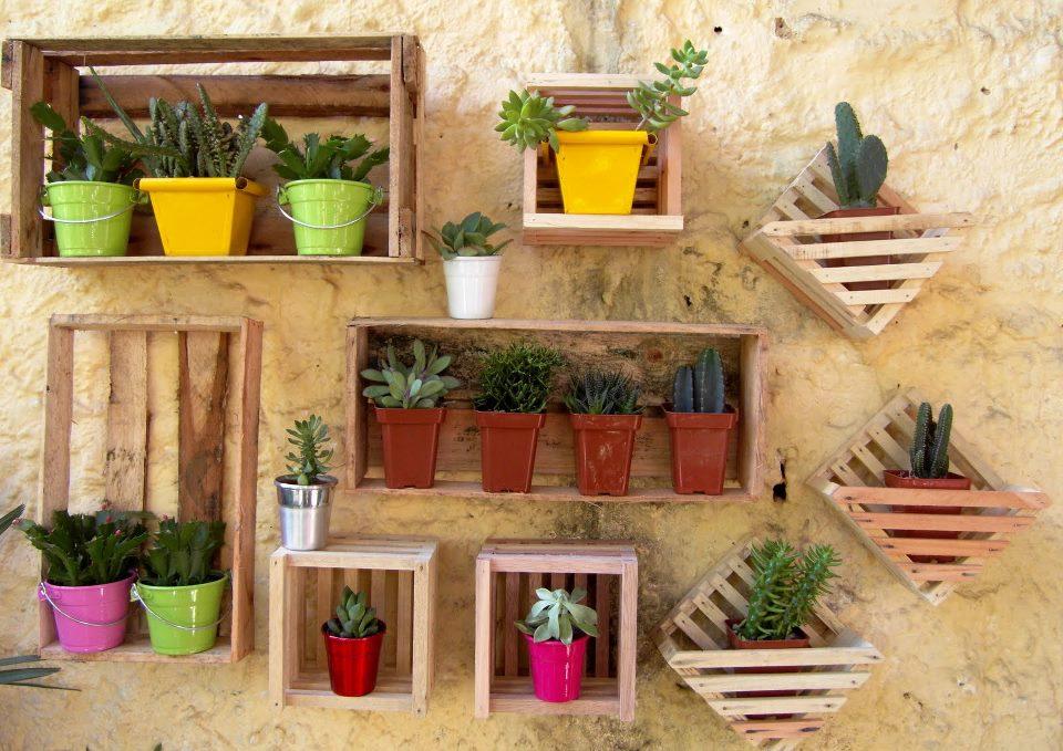 Velhos E Decorá-los Com Pequenos Vasos De Flores Ou Mini Horta~ Mini Horta Jardim De Flores