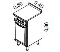 Gabinete 2 portas e 2 gavetas | Cozinhas Itatiaia