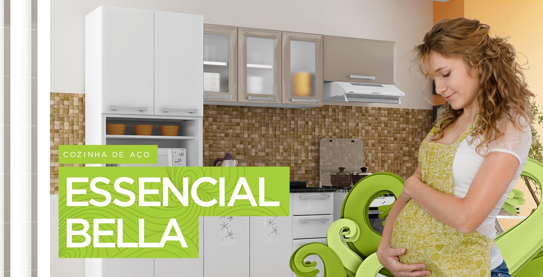 Cozinhas de Aço Essencial Bella | Cozinhas Itatiaia