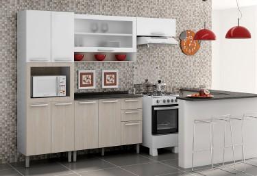 Cozinhas de Madeira Avelã | Cozinhas Itatiaia