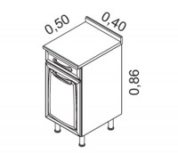 Gabinete 1 porta e 1 gaveta | Cozinhas Itatiaia