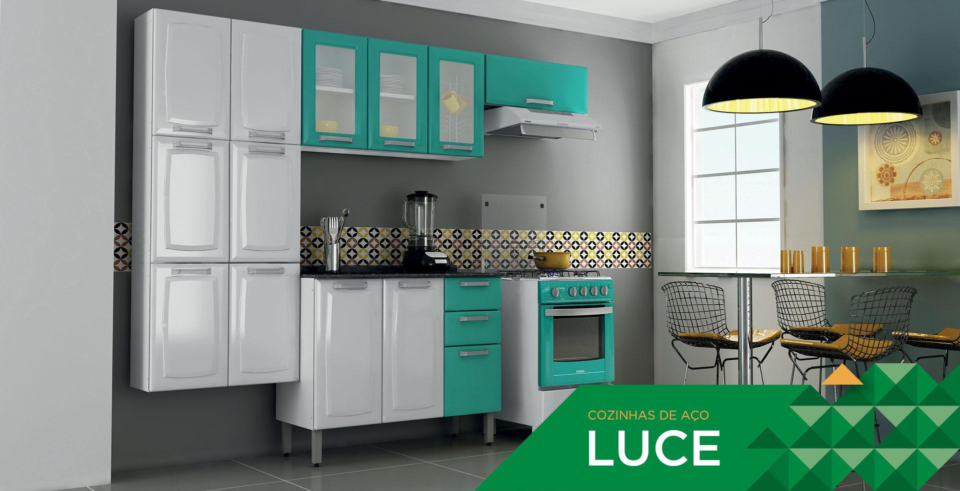 Luce  Cozinhas Itatiaia # Armario De Cozinha Branco E Verde