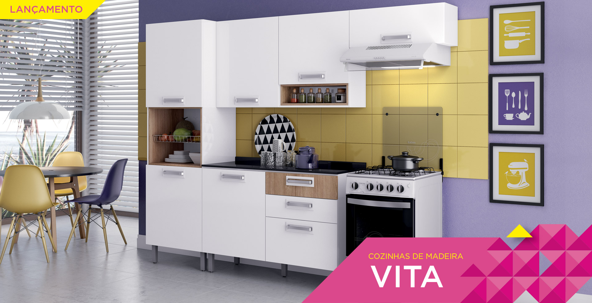 Cozinhas de Madeira Vita | Cozinhas Itatiaia