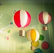 Decoração Luminárias com balões dão asas à imaginação   Cozinhas Itatiaia