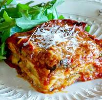 Receitas Suculenta parmegiana de legumes com panquecas | Cozinhas Itatiaia