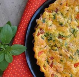 Torta de legumes com calabresa e queijo | Cozinhas Itatiaia