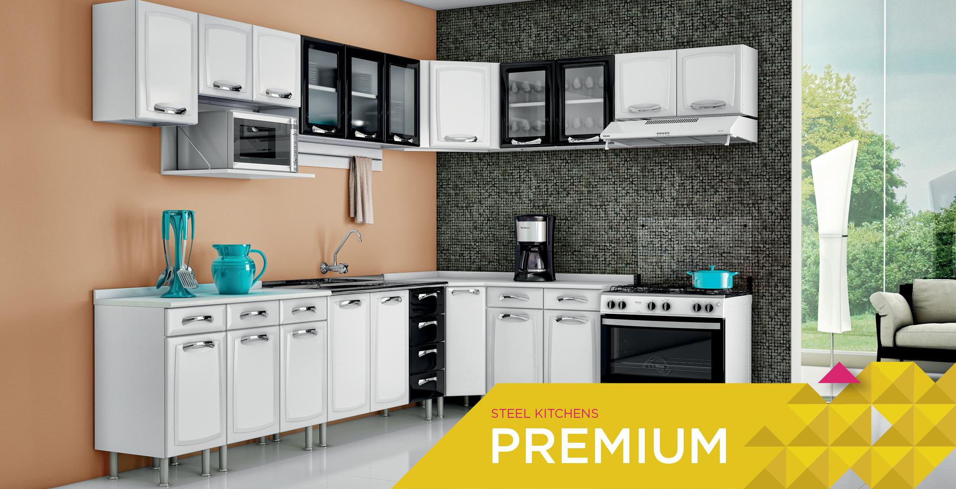 Steel Kitchens Premium | Cozinhas Itatiaia