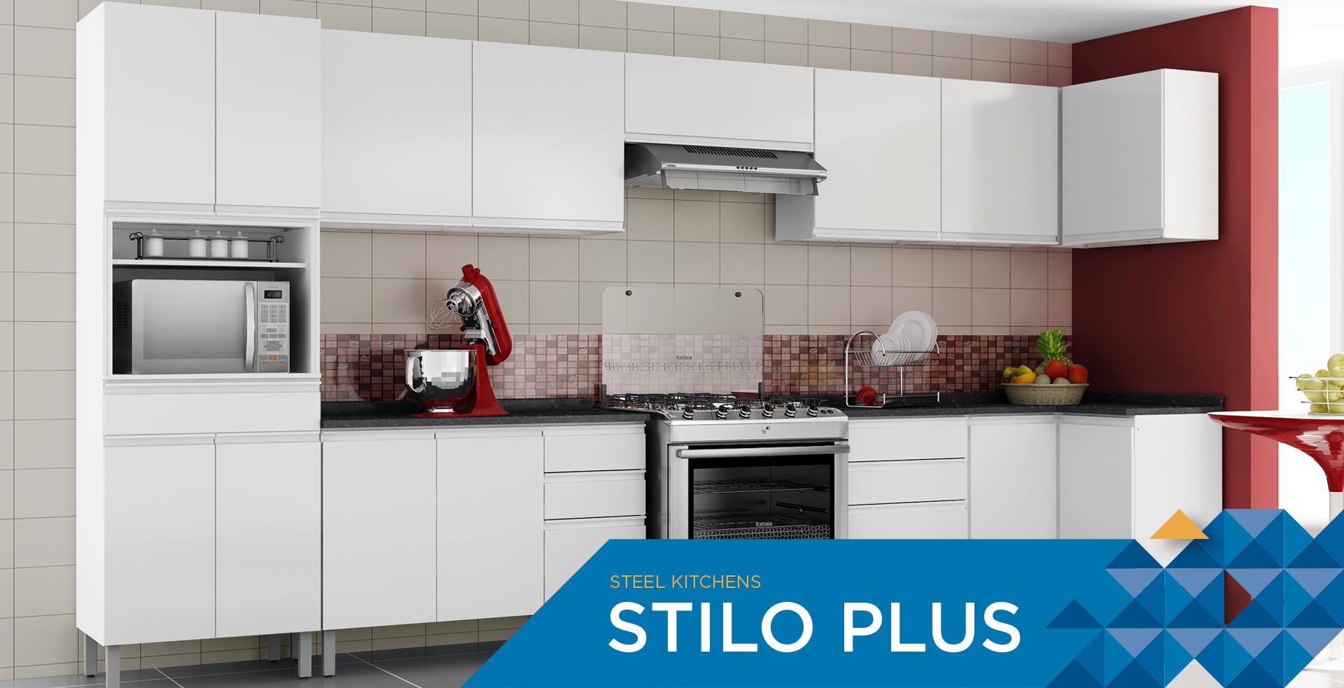 Steel Kitchens Stilo Plus | Cozinhas Itatiaia