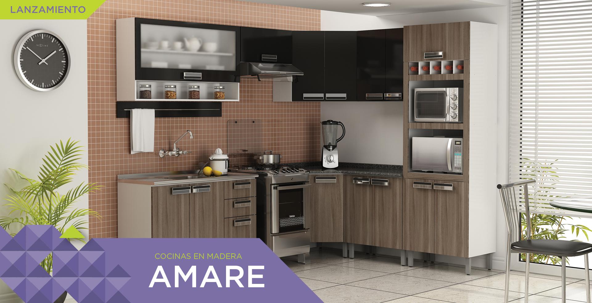 Cocinas de Madera Amare | Cozinhas Itatiaia